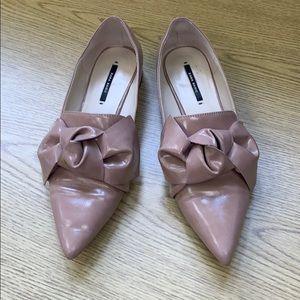 Zara flat shoe with bow detail
